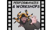 Performances, workshops and presentations offered by Robert